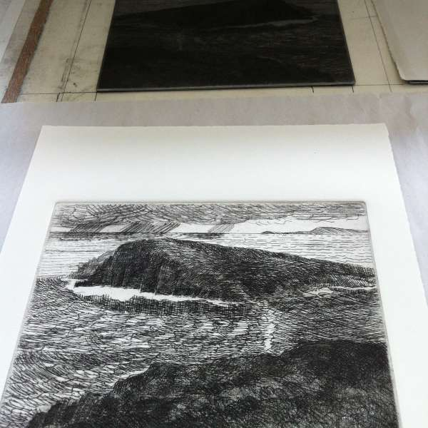 new etching on press bed 2014