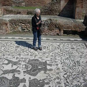 Jennifer at work in Ostia Antica