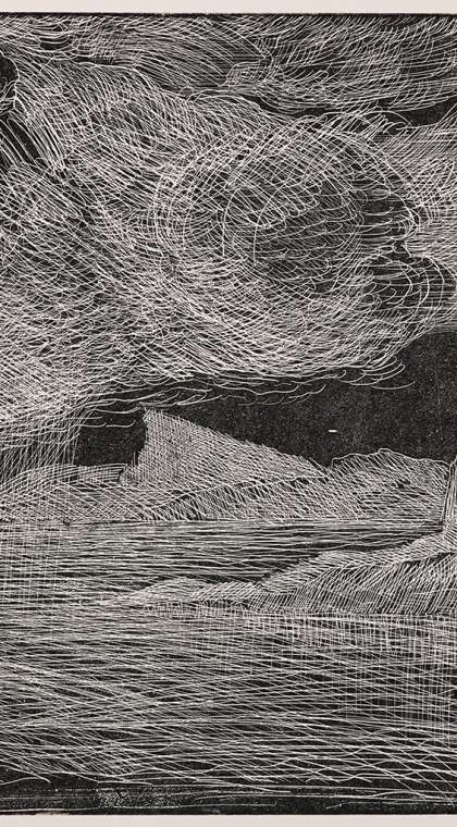relief etching landscape